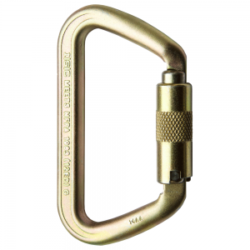 ISC Small Iron Wizard Supersafe 70kN Steel Carabiner